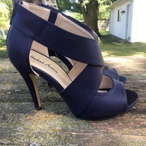 Navy Crisscross Heels.